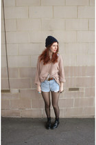 Levis shorts - Dr Martens shoes - Topshop jumper
