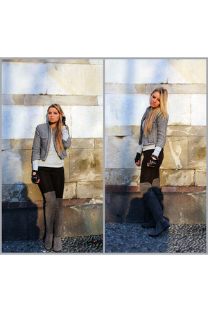 Zara blazer - Toshop boots - American Apparel leggings