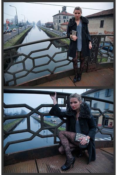 Zara coat - American Apparel dress - H&M tights - Zara shoes - Urban Outfitters