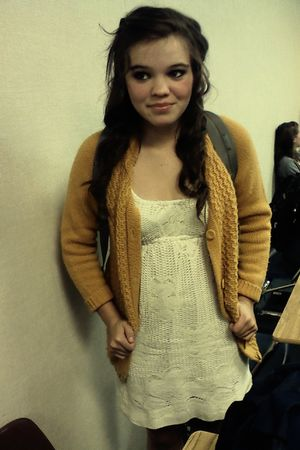 gold Swapmeet cardigan - white Forever 21 dress