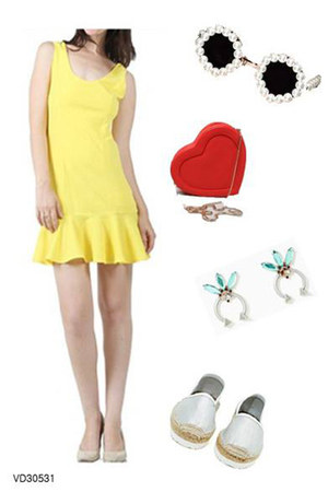 light yellow cute dress very J dress
