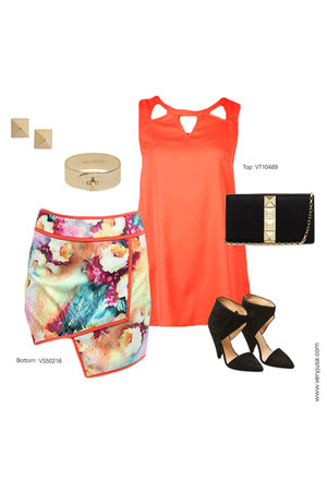 cut out tank very J top - very J skirt
