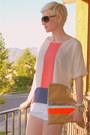 Orange-neon-jmr-top-beige-steve-madden-shoes-tan-diy-american-apparel-bag