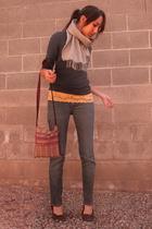 shirt - jeans - shoes - scarf - shirt - purse