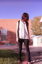 White Stag blouse - Anchor Blue jeans - Takeout vest - Rocketdog shoes