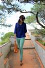 Tawny-boohoo-bag-aquamarine-stradivarius-jeans-tawny-stradivarius-heels