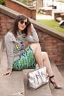 Heather-gray-tiger-kenzo-sweatshirt-silver-milly-bag
