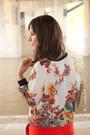 Skort-zara-shorts-hologram-melie-bianco-bag-floral-print-zara-sweatshirt