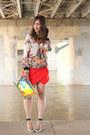 Hologram-melie-bianco-bag-skort-zara-shorts-floral-print-zara-sweatshirt