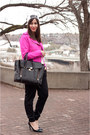 White-brkln-la-notte-hat-hot-pink-gap-jacket-black-pashli-31-phillip-lim-bag