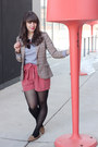 Coral-h-m-shorts-heather-gray-tna-sweater-beige-h-m-blazer