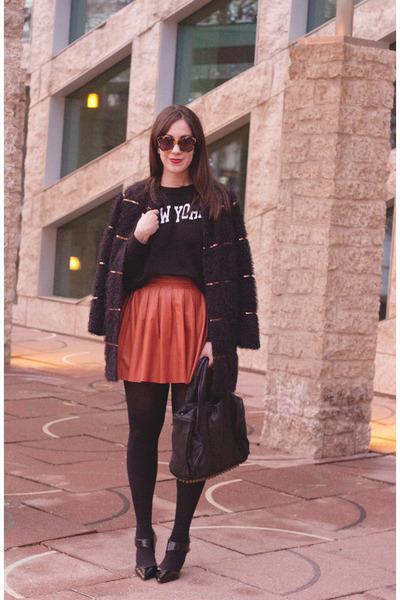 black sequins Darling coat - black rocco studs Alexander Wang bag