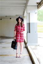 Little Red Plaid Dress