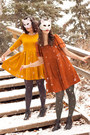 Burnt-orange-h-m-dress-mustard-h-m-dress