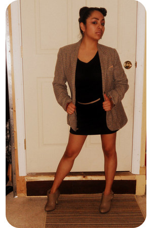 Forever 21 dress - unknown blazer - Forever 21 heels