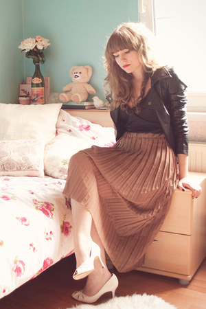 black H&M intimate - light brown Lookbook Store skirt