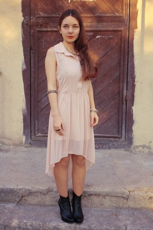 light pink asos dress