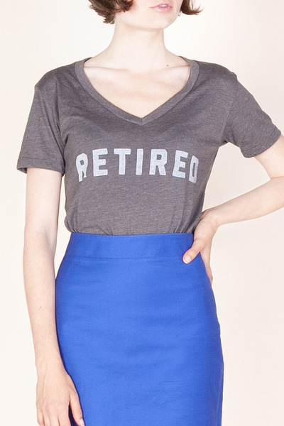 heather gray v neck No Star t-shirt