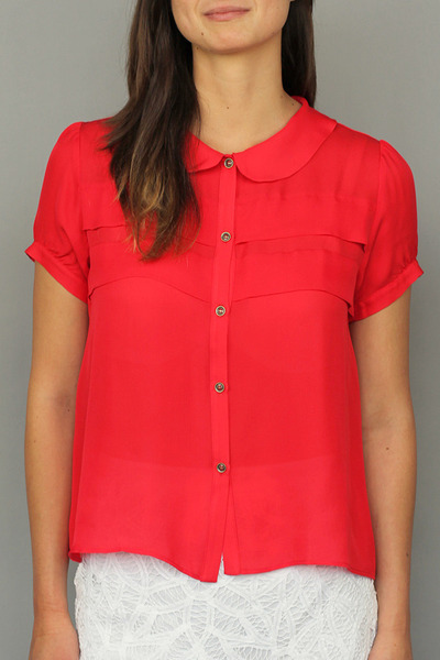 silk red Myne blouse