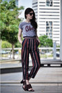 obey t-shirt - Topshop shoes - Zara pants