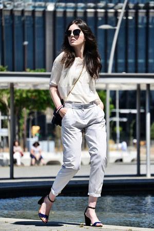 Zara pants - sita murt top - Massimo Dutti heels - Daniel Wellington watch
