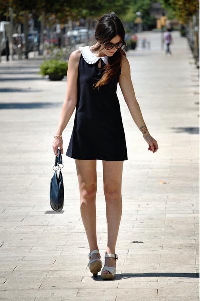 Sheinside dress - Bimba&Lola bag - Blackstone wedges