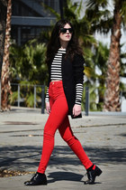 Zara jeans - asos shoes - H&M blazer - ray-ban sunglasses - Zara top