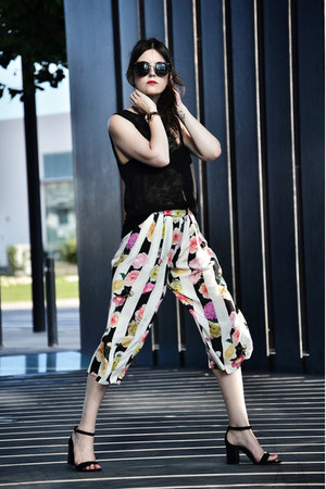 Zara shoes - Miu Miu sunglasses - Zara top - DKNY watch - MSGM pants