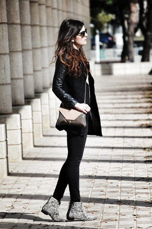 Zara boots - Sheinside coat - Bershka jeans - leather Brussosa bag