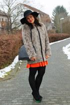zalando coat - H&M dress - CAPELLI NY hat - Primark heels