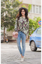 aquamarine In Love with Fashion blouse - sky blue Zara jeans