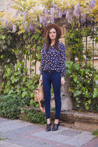 navy Tomtop blouse - navy Pull & Bear jeans