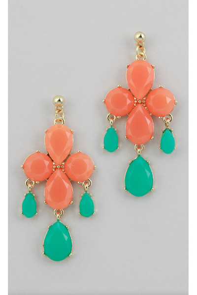 light orange Vintage Modernism earrings