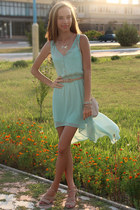 light blue pull&bear dress - neutral Forever 21 bracelet