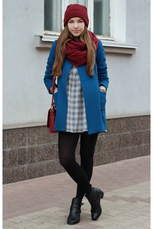 Zara coat - asos dress - asos scarf
