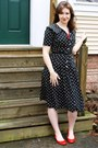 Thrifted-vintage-dress-top-flats