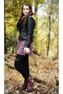 Crimson-dr-martens-boots-pink-forever-21-dress-black-modcloth-jacket