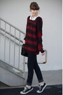 Crimson-urban-outfitters-sweater-black-converse-sneakers
