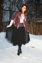 RW & CO blazer - Mexx sweater - gift skirt - Steve Madden boots - Etsy necklace