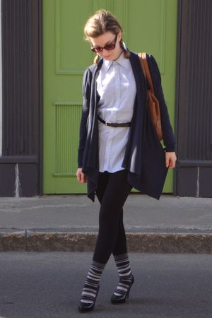 trifted shirt - Smart Set sweater - garage leggings - le chateau belt - le chate
