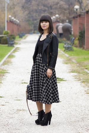 black Zara jacket - black asos skirt