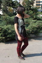 new look leggings - Stradivarius t-shirt - Zara flats