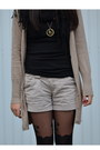 Boots-h-m-scarf-shorts-stockings-h-m-top-zara-cardigan