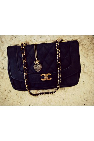 navy Chanel bag