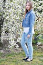 Sky-blue-h-m-jeans-navy-h-m-jacket-white-mohito-shirt