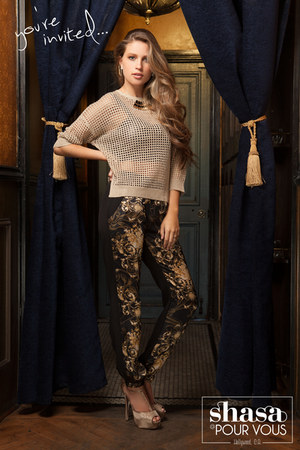 Shasa sweater - Shasa heels - Shasa pants