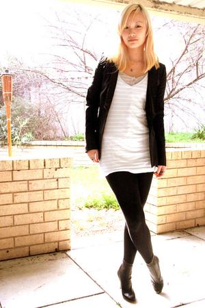 calvin klein blazer - American Apparel dress - martin margiela shoes