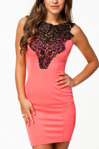 *free ship * pink women bodycon lace Embroidered mini dress club party