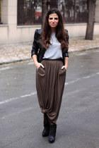 Zara skirt - Zara boots - H&M jacket - H&M t-shirt