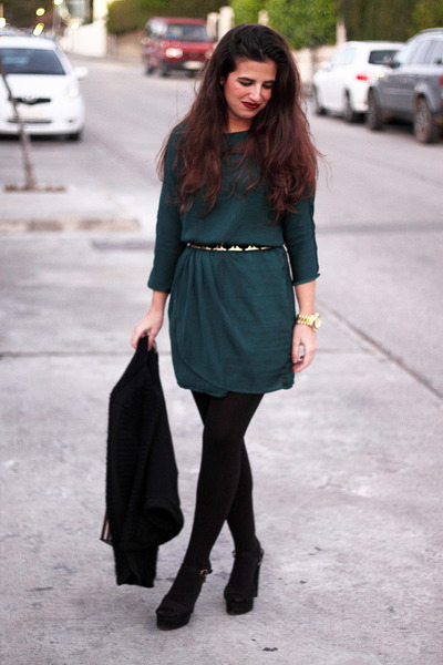 Bershka dress - H&M jacket - Zara belt - Parfois heels